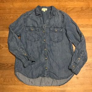 Cloth and Stone Chambray Button Down Shirt Small